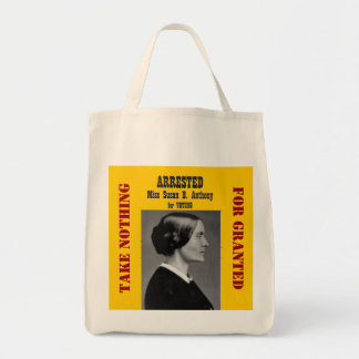 Actions: Susan B Anthony Tote Bag