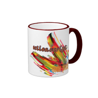 ActionScript- Multicolor Code Swirl Ringer Mug