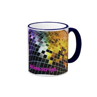 Actionscript- Purple Orange Sunset wave Ringer Mug