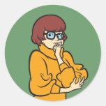 Actitud 11 de Velma Pegatina Redonda