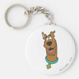 Actitud 14 de Scooby Doo Llavero Redondo Tipo Pin