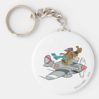 Actitud 14 del transporte de la meta de Scooby Doo Llavero Redondo Tipo Pin