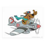 Actitud 14 del transporte de la meta de Scooby Doo Tarjeta Postal