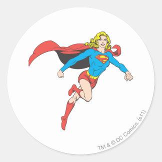 Actitud 1 de Supergirl Etiqueta Redonda