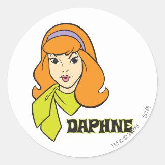 Actitud 21 de Daphne Pegatina Redonda