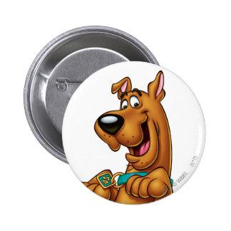 Actitud 23 del aerógrafo de Scooby Doo Pin Redondo De 2 Pulgadas