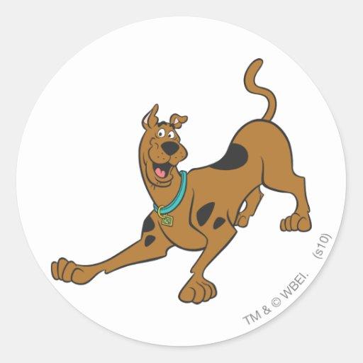 Actitud 39 de Scooby Doo Pegatina Redonda