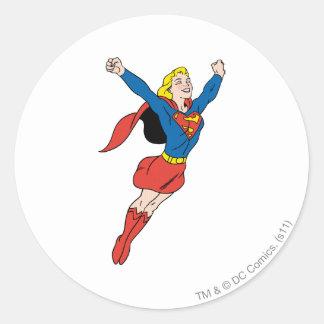 Actitud 6 de Supergirl Pegatina Redonda
