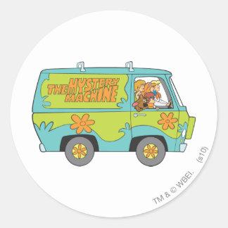 Actitud 73 de Scooby Doo Pegatina Redonda