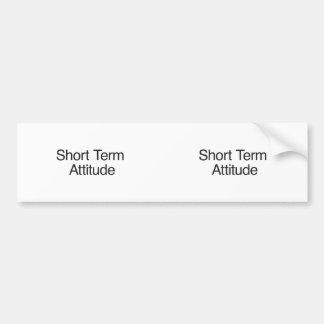 Actitud a corto plazo pegatina de parachoque