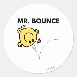 Actitud clásica de Sr. Bounce el   Pegatina Redonda