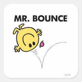 Actitud clásica de Sr. Bounce el   Pegatina Cuadrada