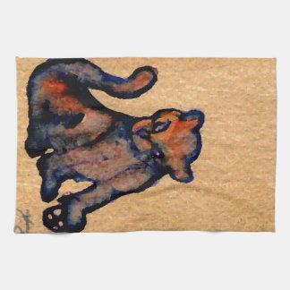 Actitud de Catness del arte del gato del Gato-itud Toallas De Cocina