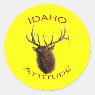 Actitud de Idaho Pegatina Redonda