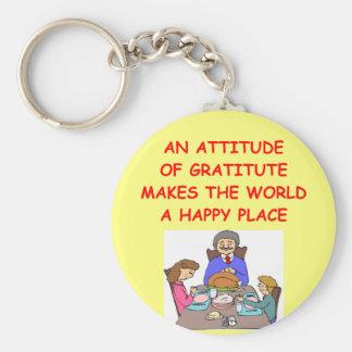 actitud de la gratitud llaveros