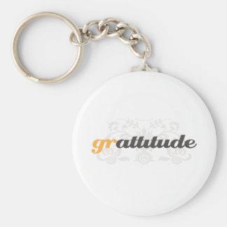 Actitud de la gratitud llavero personalizado