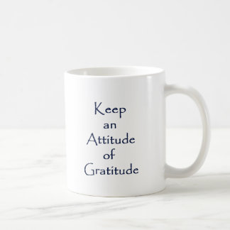 Actitud de la gratitud taza de café