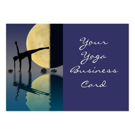 Actitud de la media luna de la yoga tarjetas personales