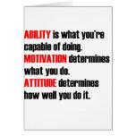 actitud de la motivación de la capacidad tarjetas