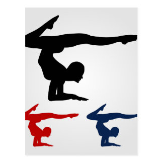 Actitud de la yoga postal