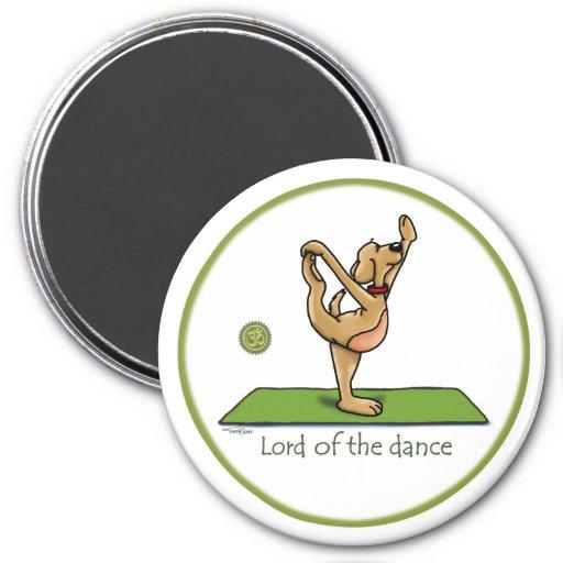 Actitud de la yoga - señor de la danza imán de nevera