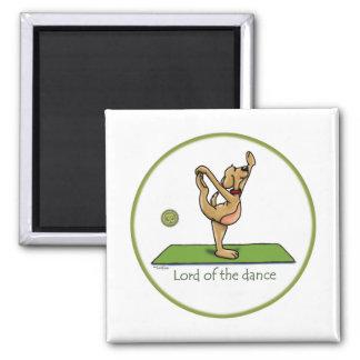 Actitud de la yoga - señor de la danza imán cuadrado