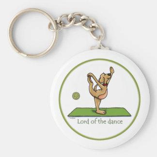 Actitud de la yoga - señor de la danza llavero redondo tipo pin