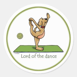 Actitud de la yoga - señor de la danza pegatina redonda