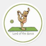 Actitud de la yoga - señor de la danza pegatinas