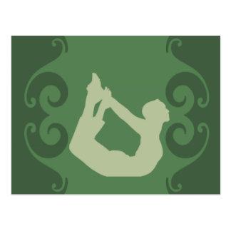 Actitud de la yoga tarjeta postal