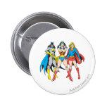 Actitud de los Superheroines Pin Redondo 5 Cm