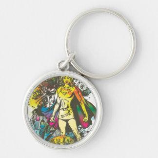Actitud de Supergirl el lux Llaveros Personalizados