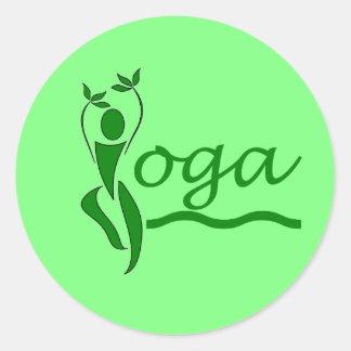 Actitud del árbol - pegatina de la yoga