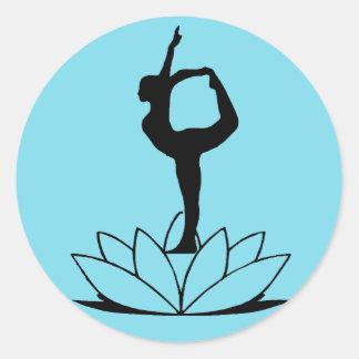 Actitud del bailarín - pegatina de la yoga