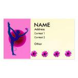 Actitud del bailarín - tarjetas de visita de la