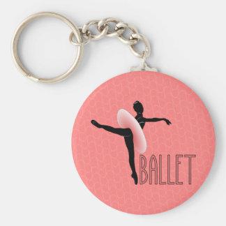 Actitud del ballet llavero redondo tipo pin