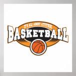 Actitud del baloncesto posters
