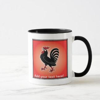 Actitud del gallo taza