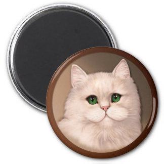 Actitud del gato imán de frigorifico