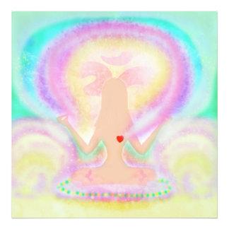 Actitud del loto de la yoga. Ampliación de la foto Fotografía
