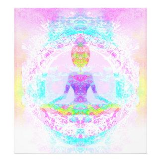 Actitud del loto de la yoga. Ampliación de la foto