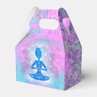 Actitud del loto de la yoga. Caja del favor Cajas Para Regalos De Boda