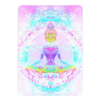 Actitud del loto de la yoga. Invitación