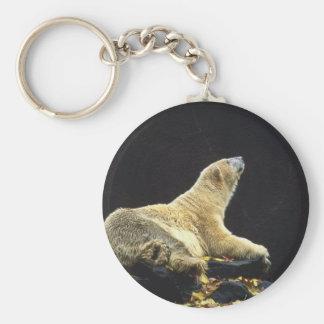 Actitud del oso polar llaveros personalizados