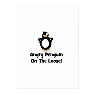 Actitud del pingüino postal