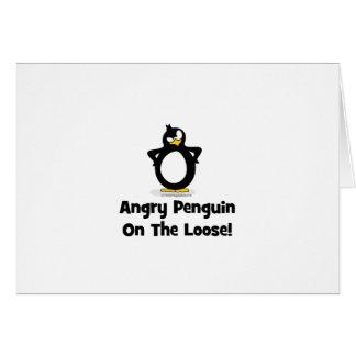 Actitud del pingüino tarjeta de felicitación