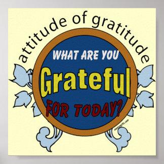 Actitud del poster de la gratitud