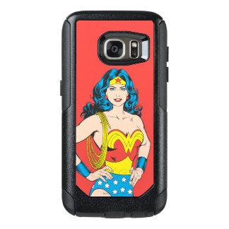 Actitud del vintage de la Mujer Maravilla el | con Funda Otterbox Para Samsung Galaxy S7