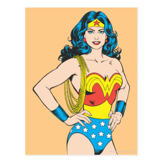 Actitud del vintage de la Mujer Maravilla el | con Tarjetas Postales