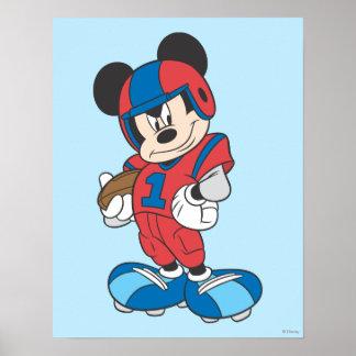 Actitud deportiva del fútbol de Mickey el | Póster